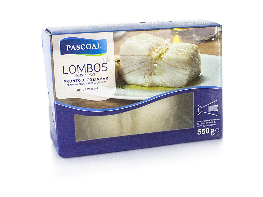 Deep-frozen dessalted codfish loins 550g by Pascoal