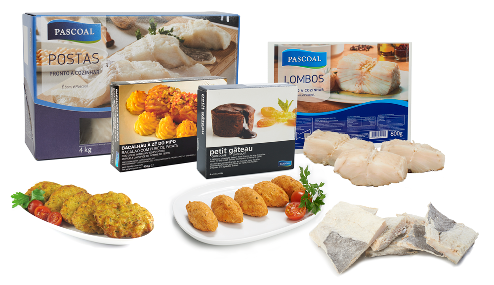 Pascoal products - Codfish | Ready Meals | Petit Gâteau | Finger Food